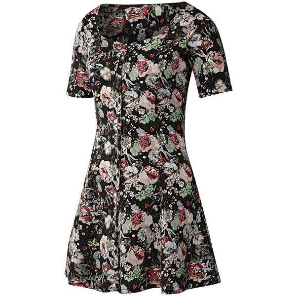 Adidas Selena Gomez Flower Dress ($28) ❤ liked on Polyvore featuring dresses,  vestidos