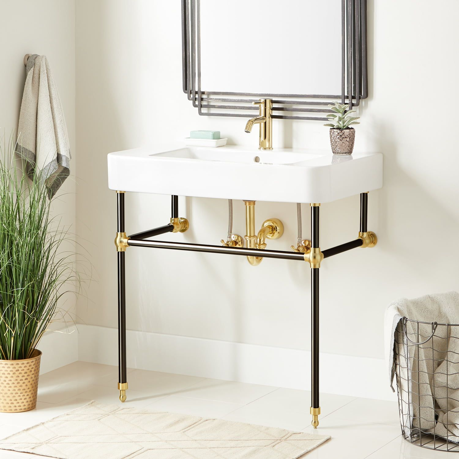 Perfect For A Mixed Metals Design The Burleson Console Sink