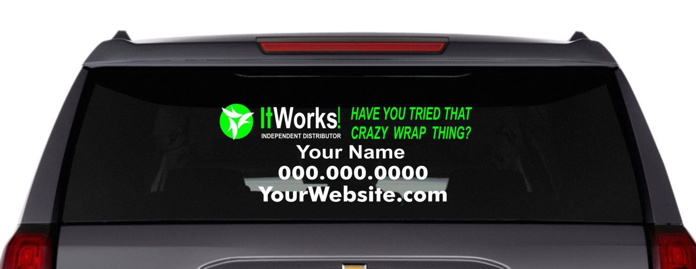 It Works Car Decal It Works Vinyl Car Window Decal Custom Window - Custom vehicle window decals