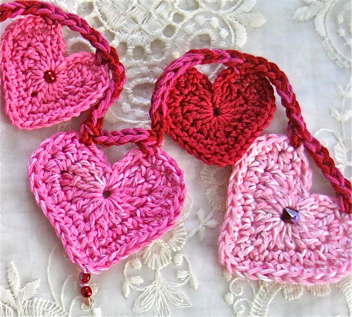 Crochet heart garland using the pattern by skip to my lou here crochet heart garland using the pattern by skip to my lou here http bankloansurffo Images