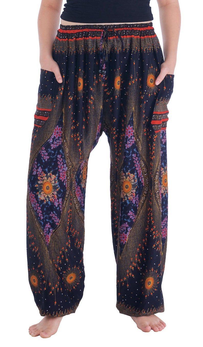 Nouveau Pantalon Harem Hippie 8 10 ethnique yoga Surf Hippie Festival Boho