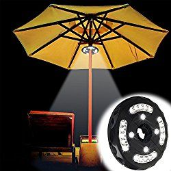 How To Use Umbrella Lights Interesting Upgraded Battery Powered Patio Umbrella Lightgeekeep Cordless