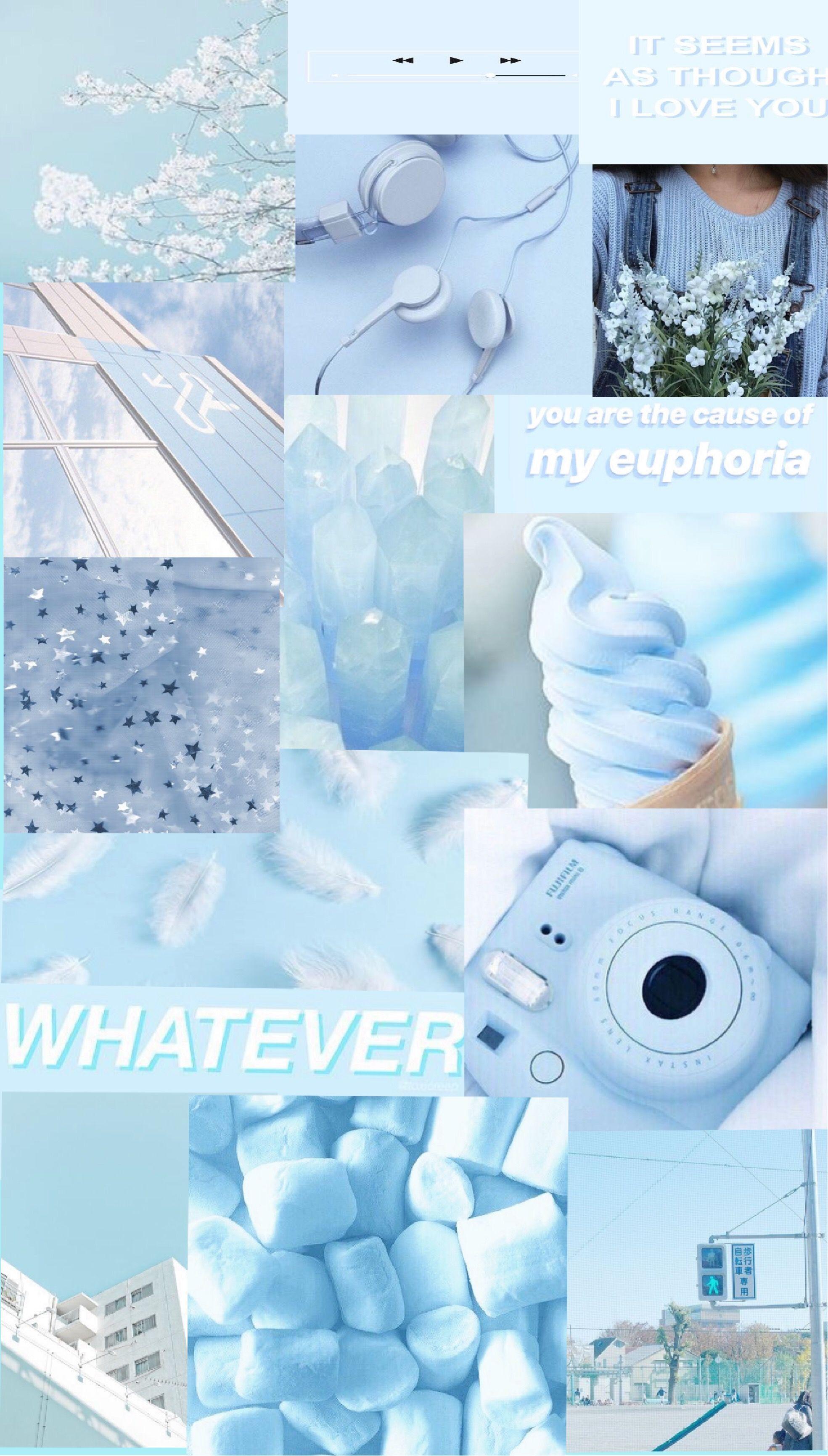 Blueaesthetic Aesthetic Pastel Wallpaper Wallpaper Iphone Cute Blue Wallpaper Iphone