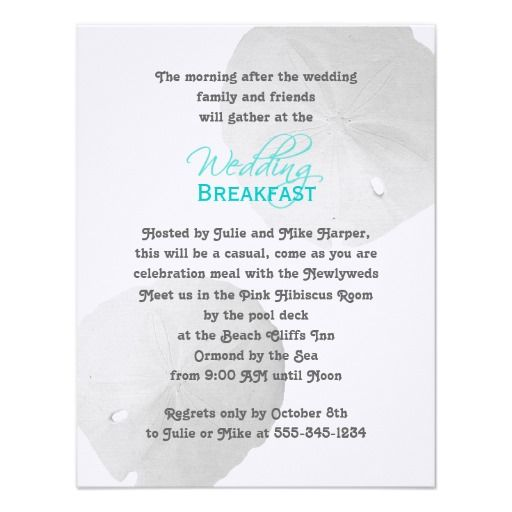 Invitation To Brunch The Morning After Wedding