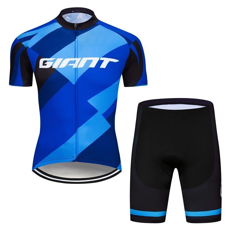 Polyester Men s Cycling Jersey and Short Sleeve Bike Maillot T-shirt New  Blue 56dda562a