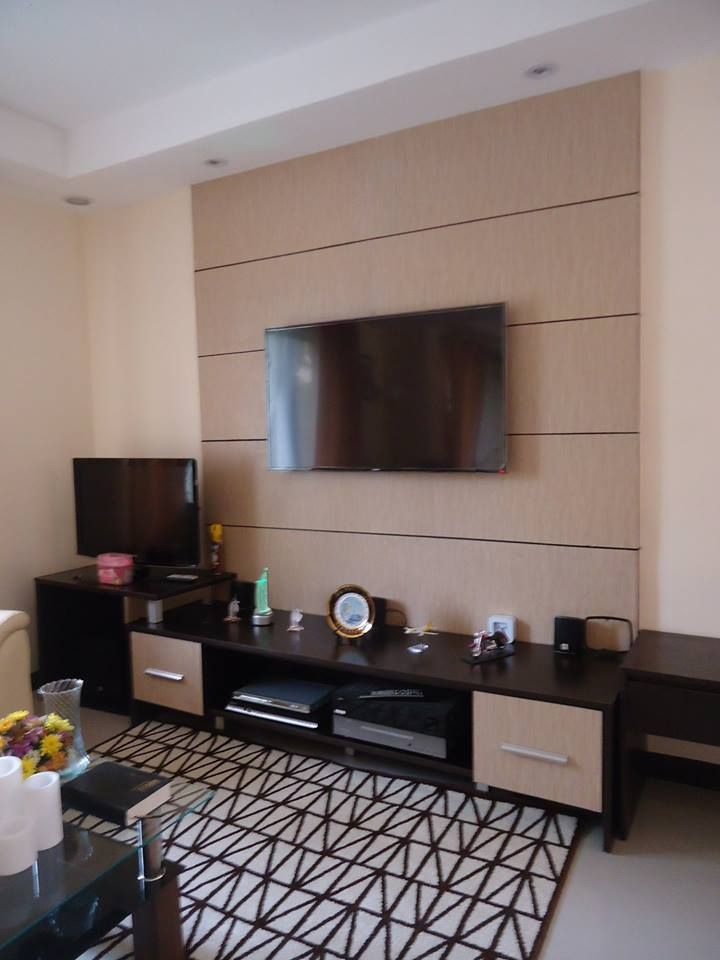 Entertainment - used 25mm Stipple I.T. Wengue Melamine Particle Board Cladding - used 3mm Matte Jolina Plyboard