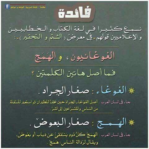 الغوغائيون والهمج Words Learn Arabic Language Quotes