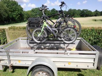 a diy bike rack for a trailer storage organization pinterest diy bike rack bike. Black Bedroom Furniture Sets. Home Design Ideas