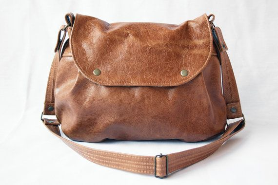 Whisky brown leather hobo bag - Crossbody everyday leather bag in ... 066a11b213bdf