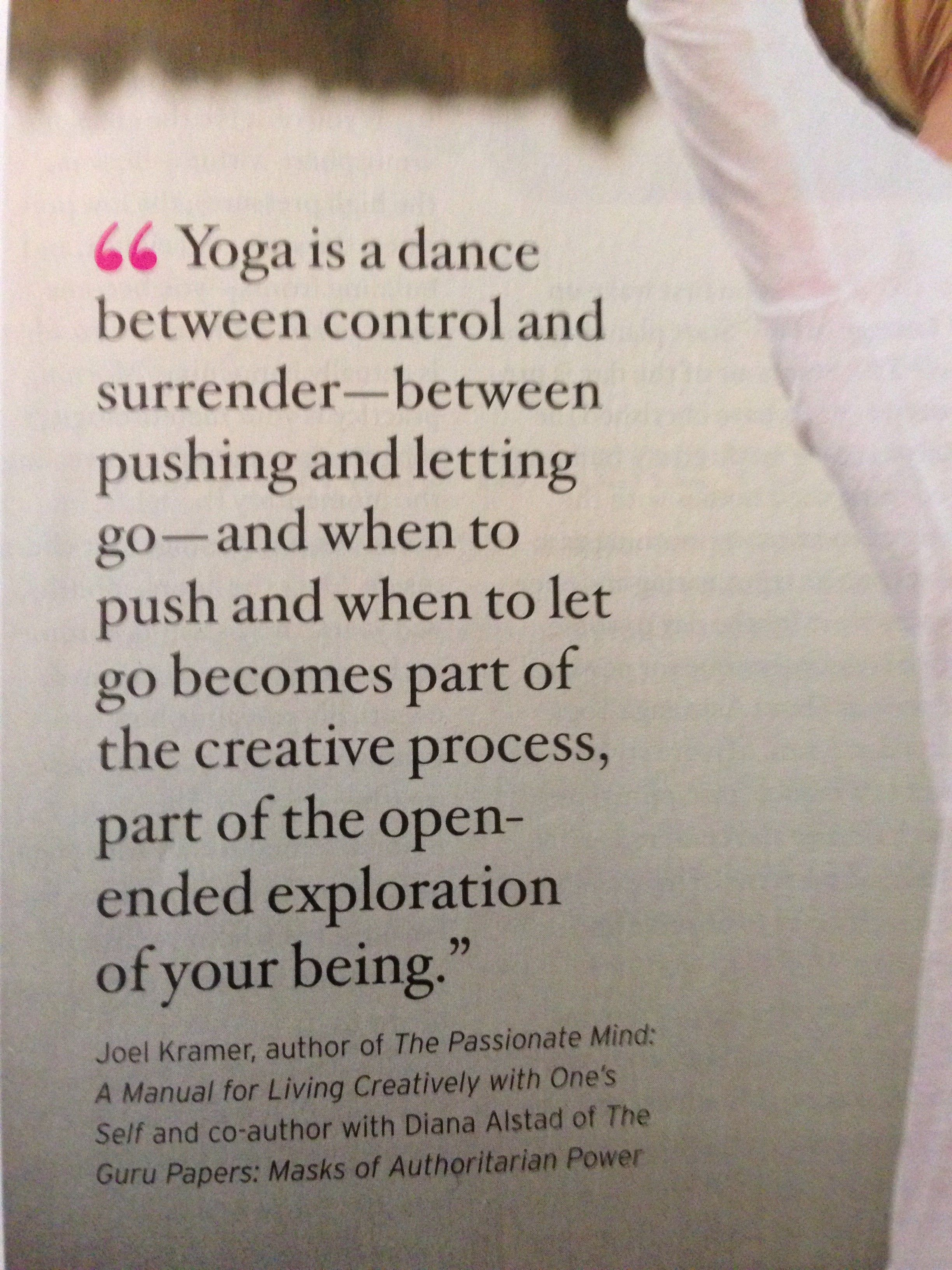 Quotes about Balance and yoga (33 quotes)