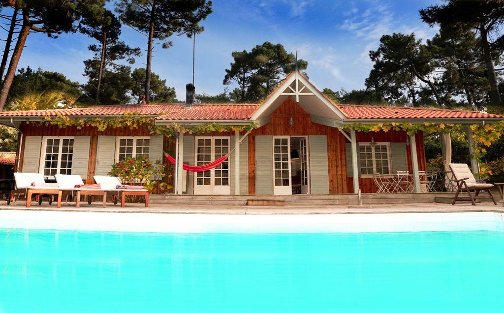 Villa bois esprit cabane Cap Ferret La Vigne à vendre avec