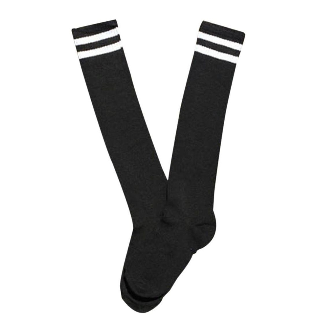 1 Pair Mens Cotton Sports Football Hockey White Long Socks Over Socks
