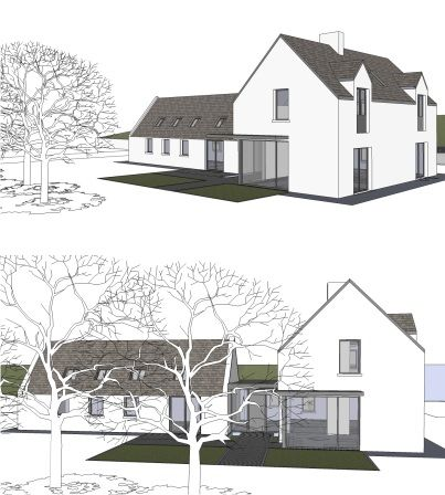 Existing Cottage Renovation With Extension Rathcormac Co Cork Louise Sliney Architects House Designs Ireland Cottage Renovation Contemporary Farmhouse