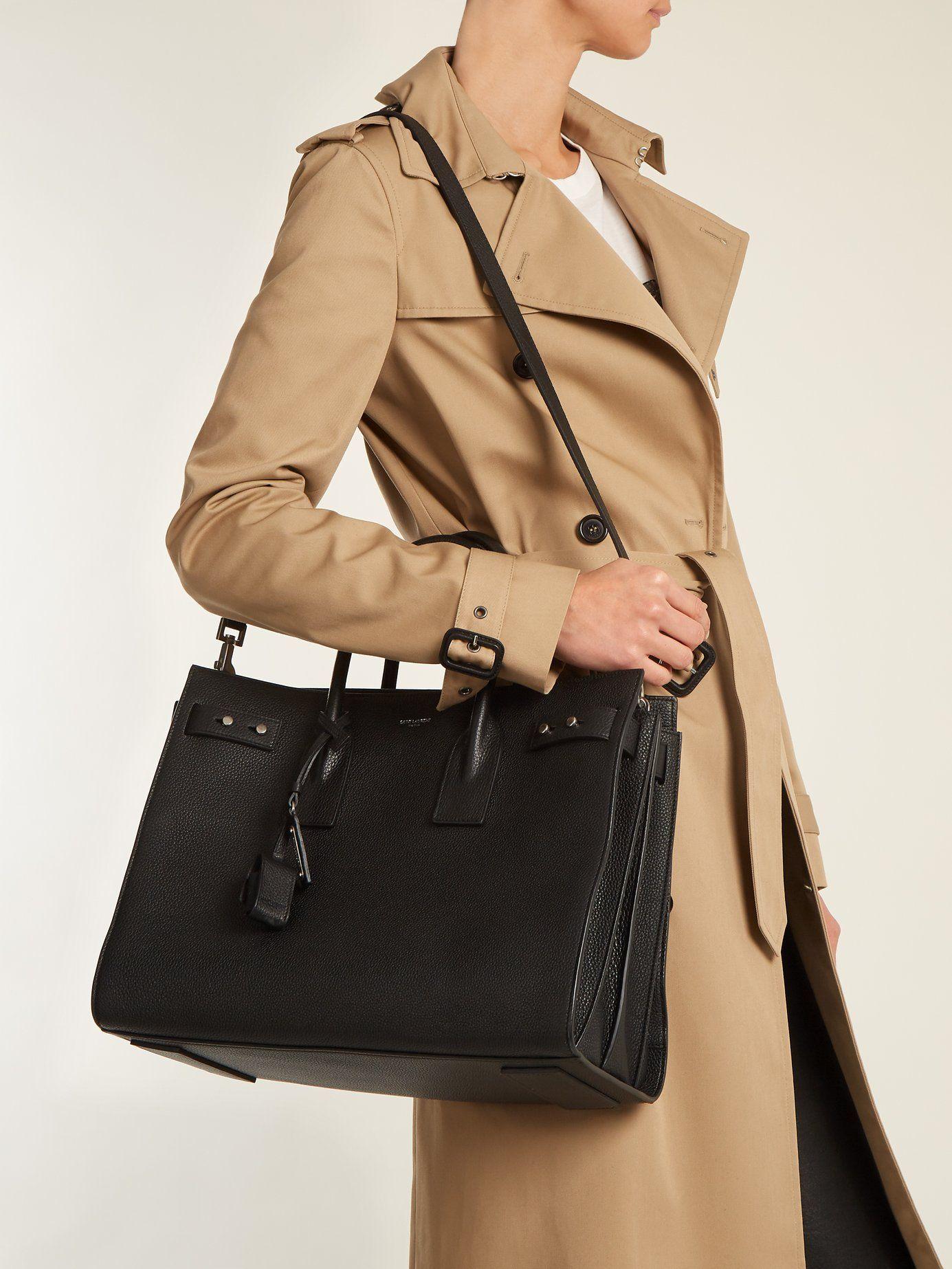 ade5204ee Sac De Jour medium grained-leather tote | Saint Laurent |  MATCHESFASHION.COM AU