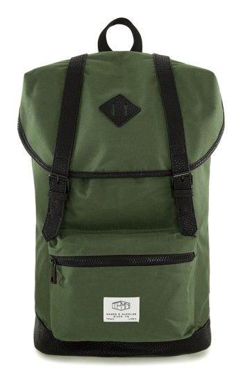 fc91a134a8b TOPMAN MEN'S TOPMAN EXPLORER FLAP TOP BACKPACK - GREEN. #topman #bags  #backpacks #