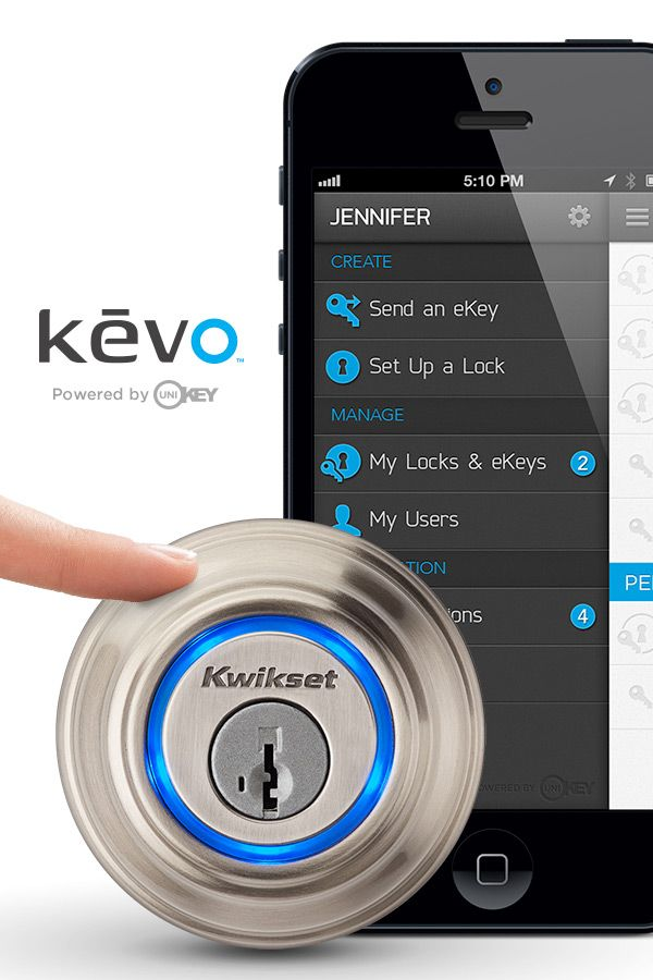 the new kevo smart lock powered by unikey available for pre order from home depot for 200. Black Bedroom Furniture Sets. Home Design Ideas