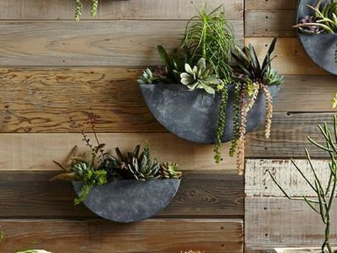 Orbea Circle Zinc Wall Planters Crafted Home