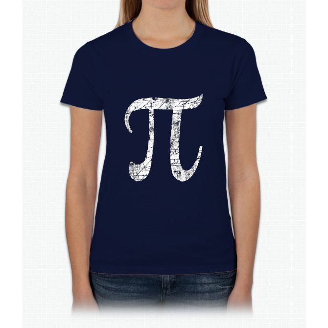 Pi Greek Letter Symbol Grunge Style Womens T Shirt Products