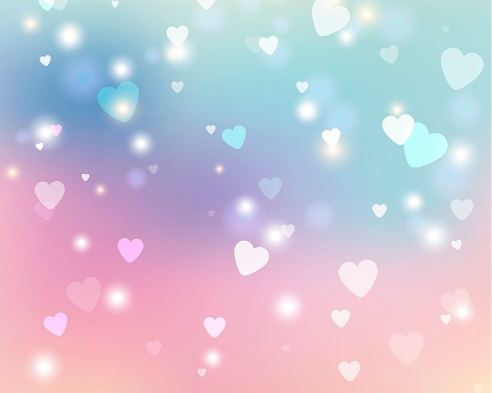 Brewster WALS0274 N/A Pastels Sweet Hearts Unpasted Wall Mural