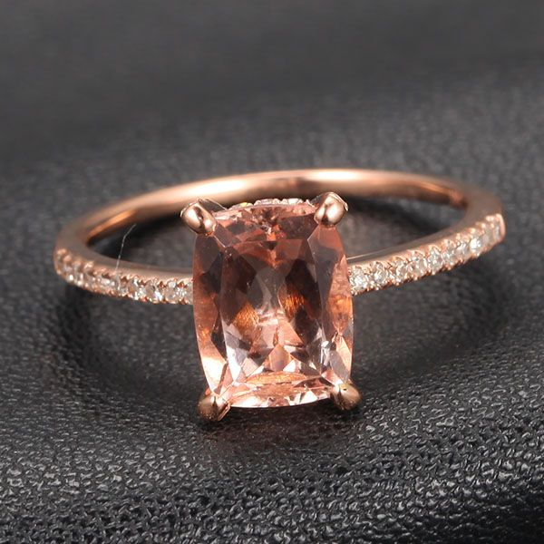 Morganite Diamond Claw Prongs. I absolutely love this. Please don't let him miss this... (Size 6.5)