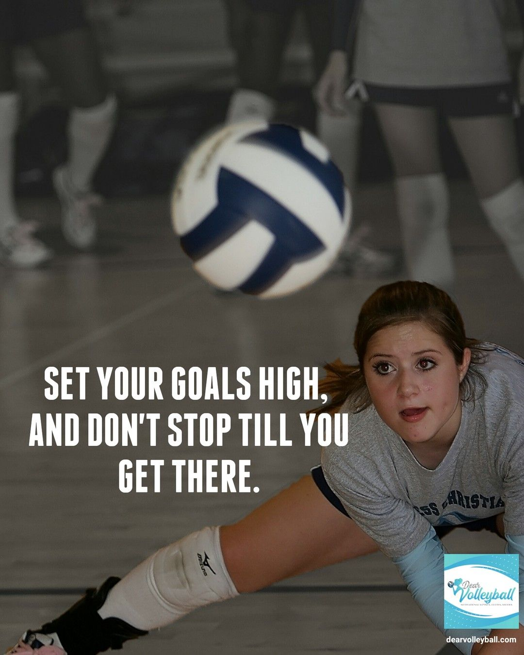 Swaggiestvolleyballsayings Posted To Instagram Set Your Goals High And Don T Stop Till Yo Volleyball Quotes Volleyball Inspiration Short Inspirational Quotes