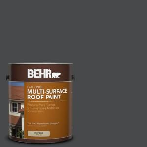 Best Behr 1 Gal Rp 32 Black Slate Flat Multi Surface Exterior 640 x 480