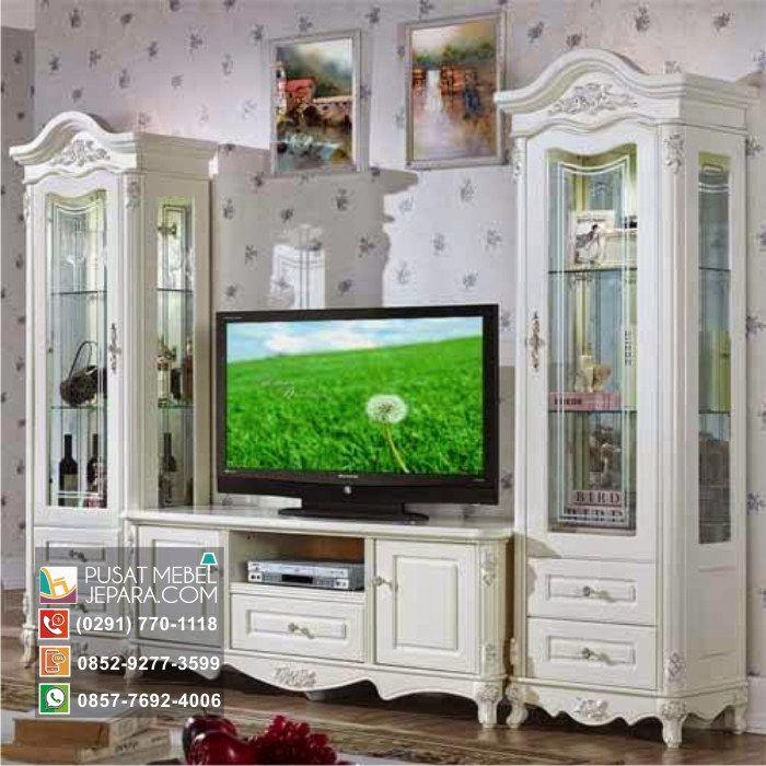 Jual Bufet Tv Ukir Kayu Jati Wilayah Surabaya Murah