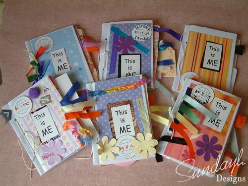 Envelope Albums, childrens crafting, mini albums