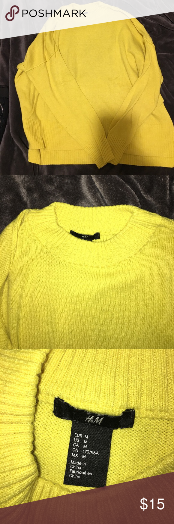 Used yellow H&M sweater | Yellow sweater, Bold colors and Scoop neck
