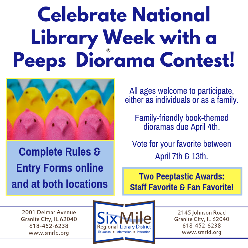 Celebrate National Library Week With A Peeps Diorama Contest Library Week Diorama Contest