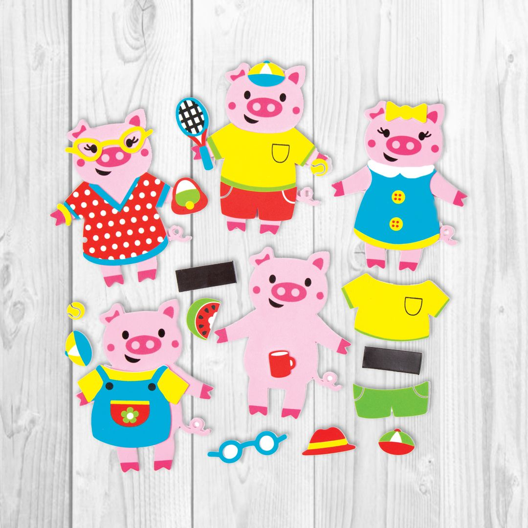 Buy magnets for crafts - Buy Now Playful Pig Mix Match Magnet Kits Chop And Change These Little Pigs