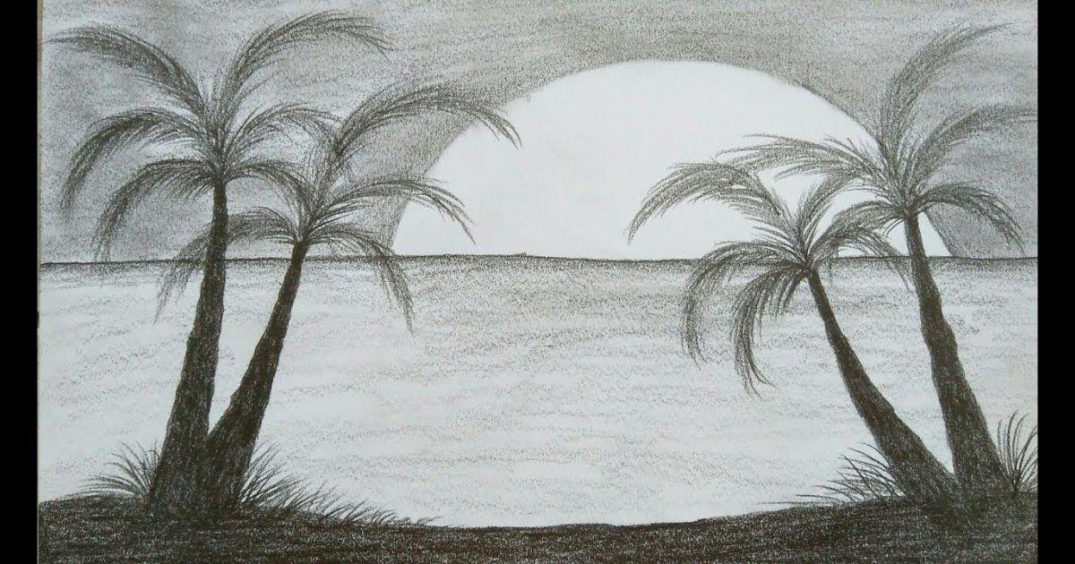 20 Lukisan Pemandangan Arsiran Pensil Lukisan Pemandangan Senja Dengan Pensil Warna Selain Sketsa Yang Rumit Ada Cara Menggambar Gambar Keren Gambar Lanskap