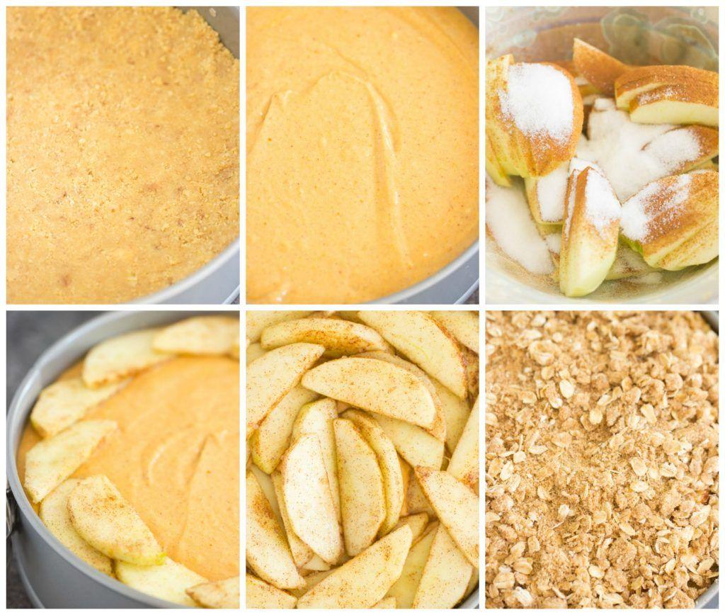 Apple Crisp Pumpkin Cheesecake - The Gold Lining Girl