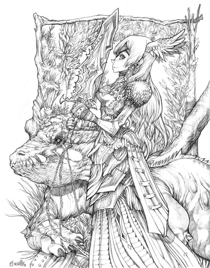 Fantastic Coloring Pages Dragons And Fairies Gallery - Examples ...