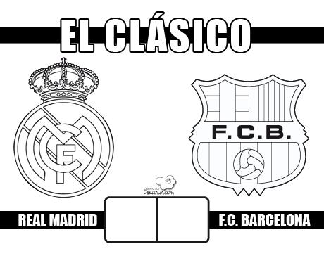 Carteles Del Clásico Real Madrid Contra Fc Barcelona Dibujos