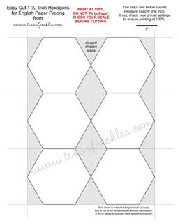 photograph about Quilt Templates Printable Free named Cost-free for English paper piecing 1 1/2 inch Hexagons Quilts