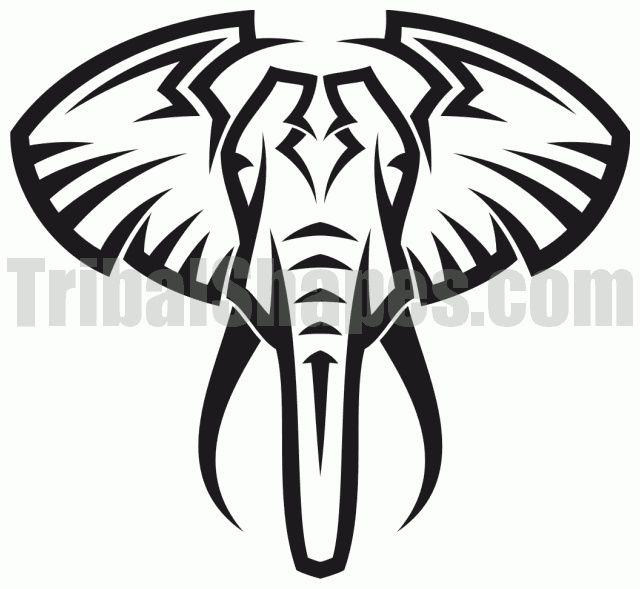 Elephant Simple Tribal Elephant Tattoo Tribal Elephant Tattoos Elephant Tattoo