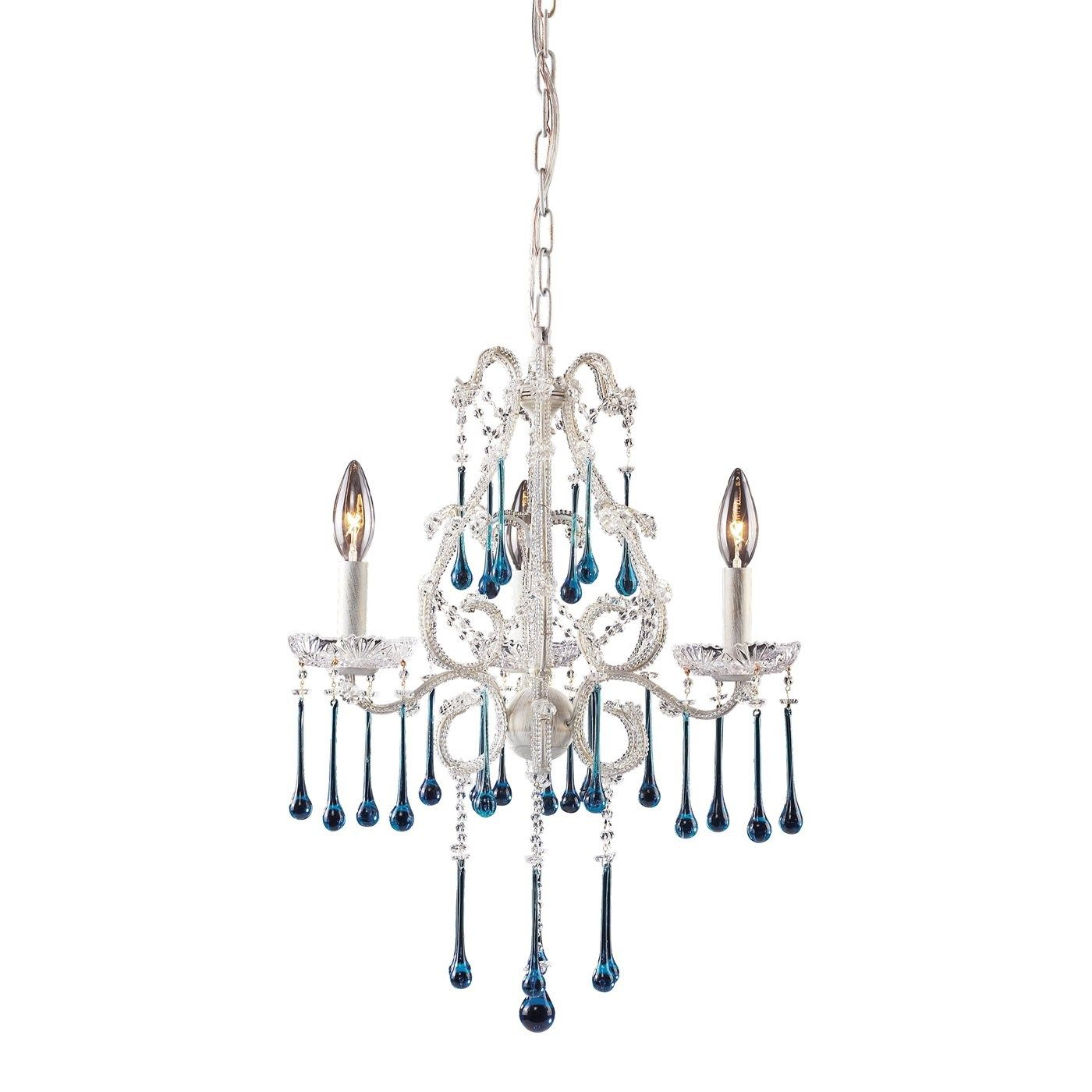 Elk 4001 3AQ Opulence 3 Light Chandelier in Antique White with
