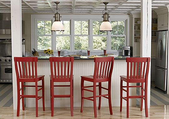 Inspiration Bright Bar Stools Red Bar Stools Breakfast Bar Kitchen Wood Floor Kitchen