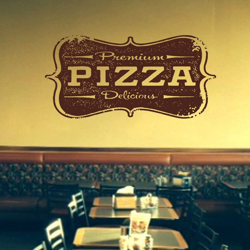 Pizza Decal Restaurant Sticker Posters Vinyl Wall Decals Pegatina ...