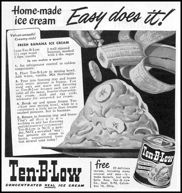Ten-B-Low Ice Cream