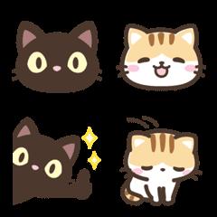 It Is A Emoji Of A Black Cat And A Calico Cat In 2020 Calico Cat Cat Emoji Chibi Cat