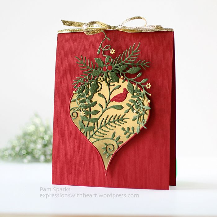 Corby Ornament, Drop Layers Ornaments and Blissful Bundle dies