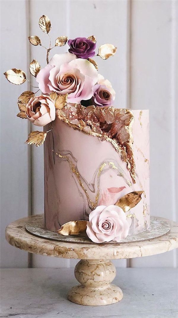 31 Geode Wedding Cakes You Will Love