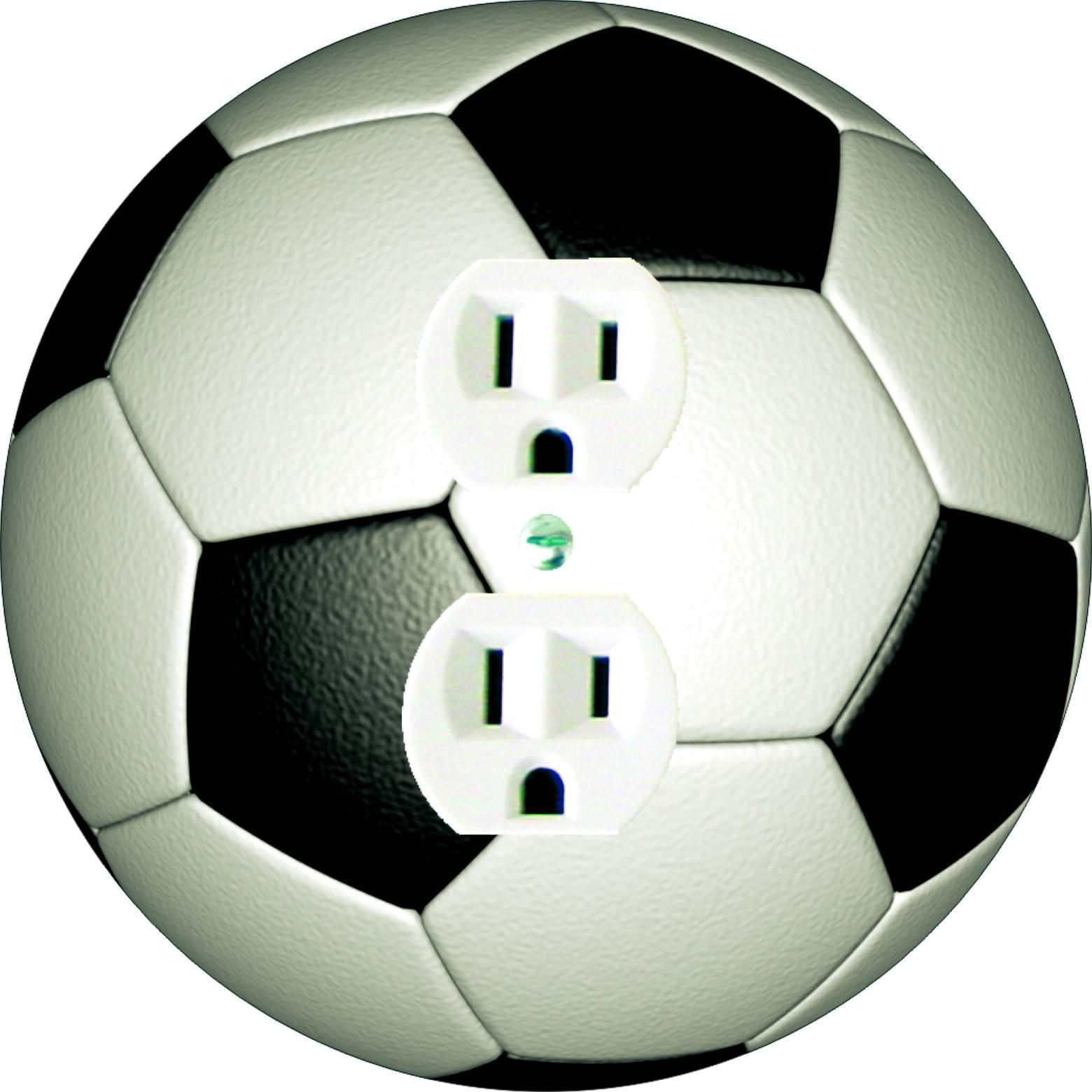 Details About Coloriffic Soccer Ball Light Switch Outlet Decora Rocker Wall Plate Fussball Plates On Wall Soccer Soccer Furniture