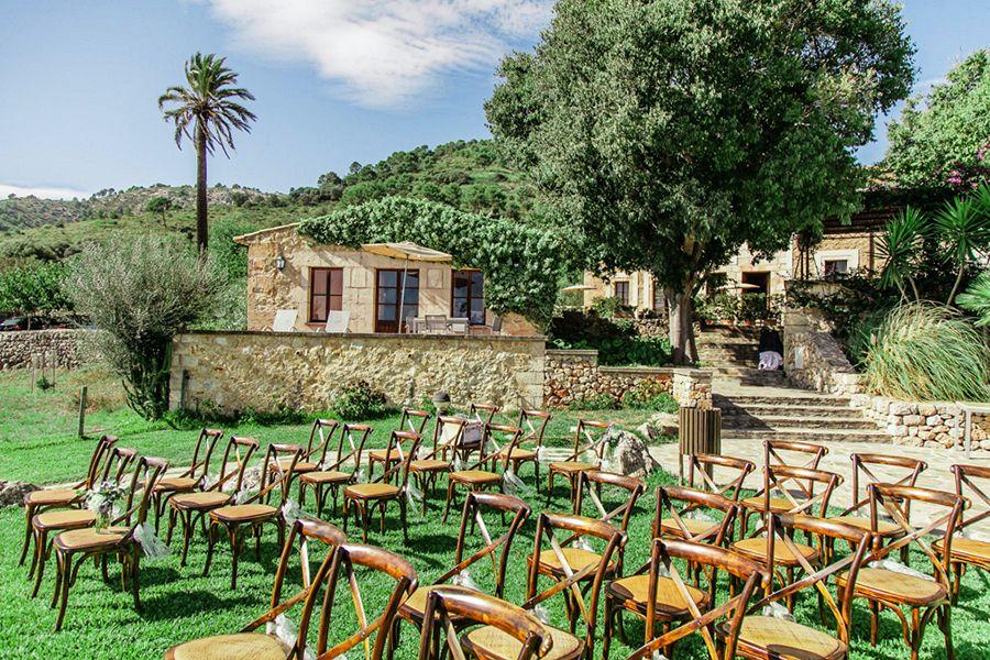 Small Wedding At Quaint Rural Hotel In Mallorca Rusticwedding Mallorcaweddings