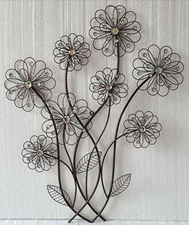 Flowers Metal Art Wall Decor Metal Decor Wall Art Artwork Pictures Frames And More Winnipeg Manitoba Artesanato Com Arame Decoracao Artesanato