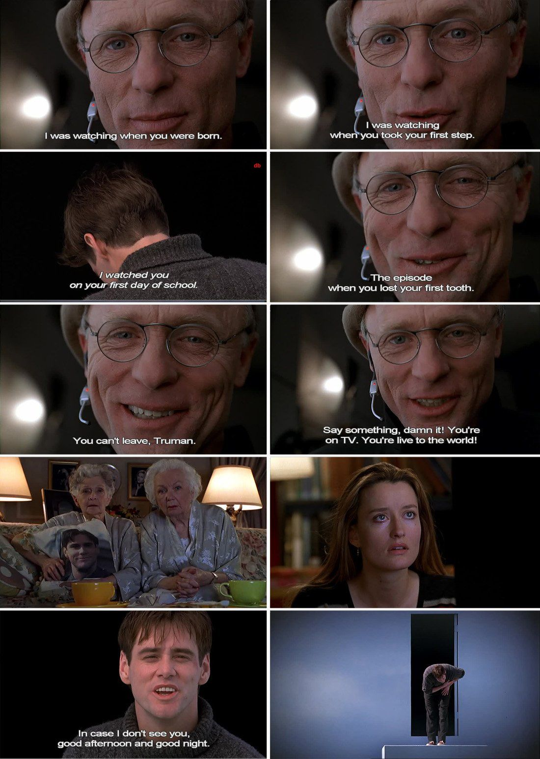 the truman show interview Me: so truman, let's start at the beginning what first made you think that something was wrong with your worldtruman: well, actually, not a whole lot truman: well, actually, not a whole lot it was just a feeling at first then i started to notice that things were too regular, calculated even.