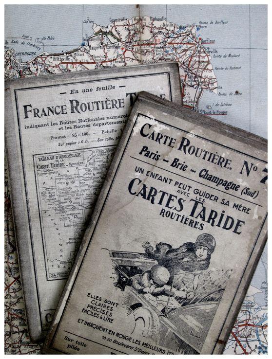 Carte Routiere Antique Maps Vintage Packaging Map