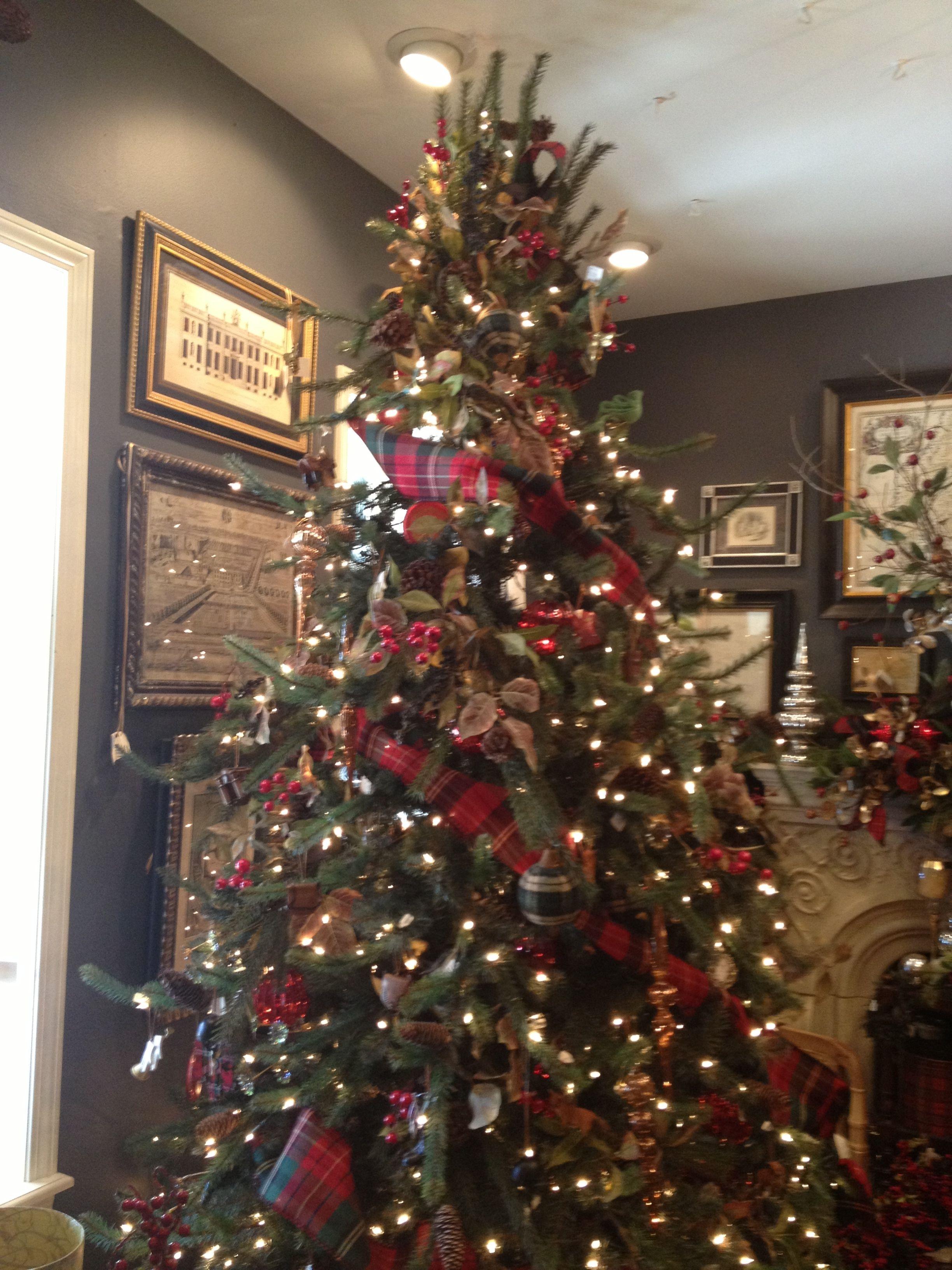 Christmas Tree Idea Tartan Plaid Ribbon Is My Absolute